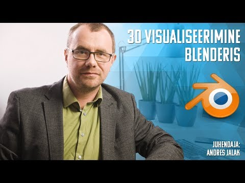 3d visualiseerimine Blenderis koolituse tutvustus