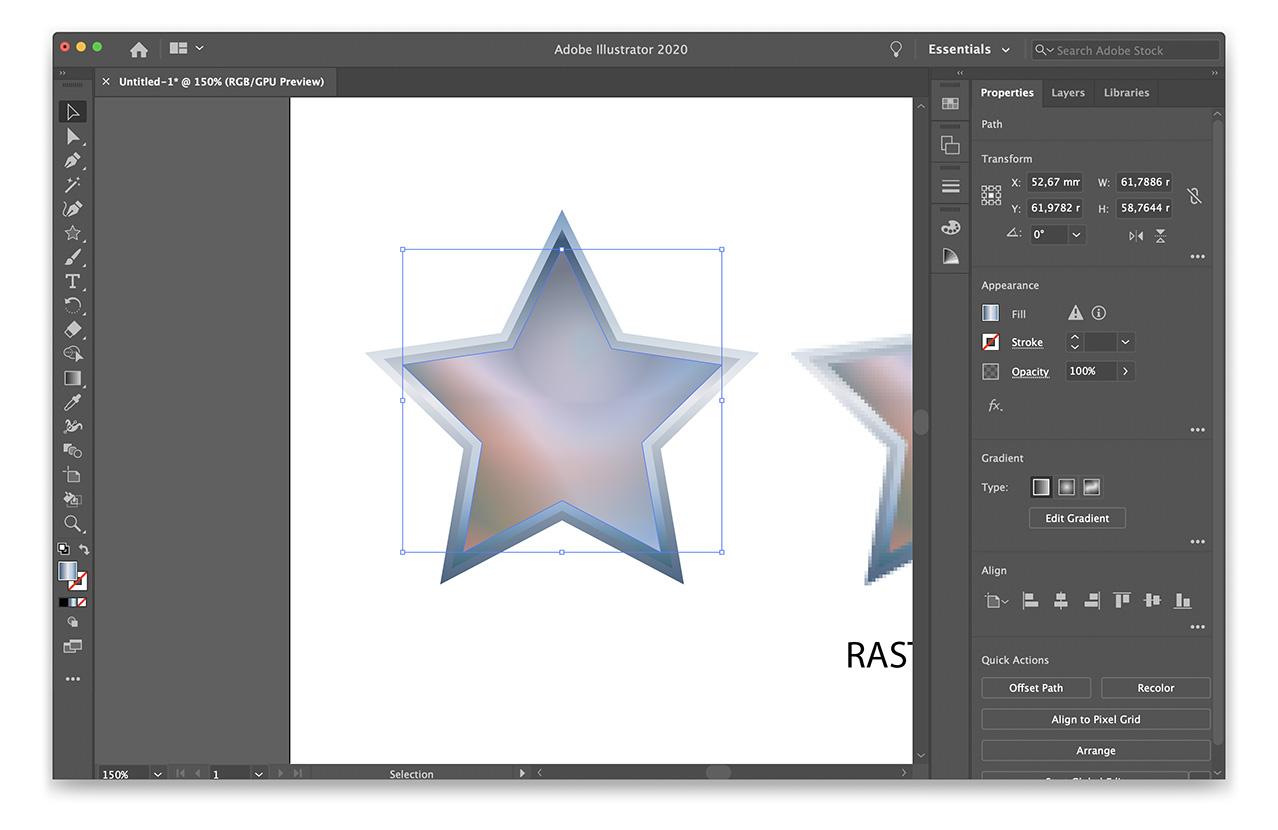 vektorgraafika töötlus Adobe Illustratoris